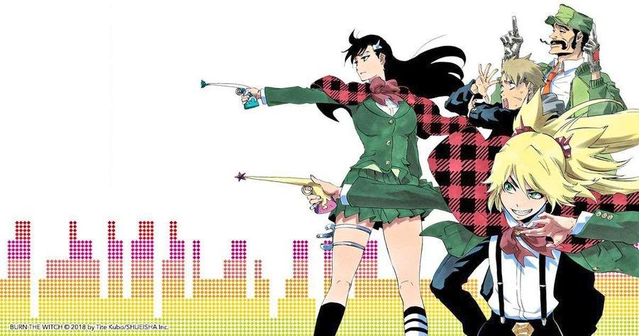 SÓ 4!?...  Foi anunciado que o novo mangá escrito e ilustrado por Tite Kubo, Burn the Witch, estreará na 38ª edição da revista Weekly Shonen Jump. O anime será composto por apenas 4 capítulos. pic.twitter.com/4H4AErrDSU