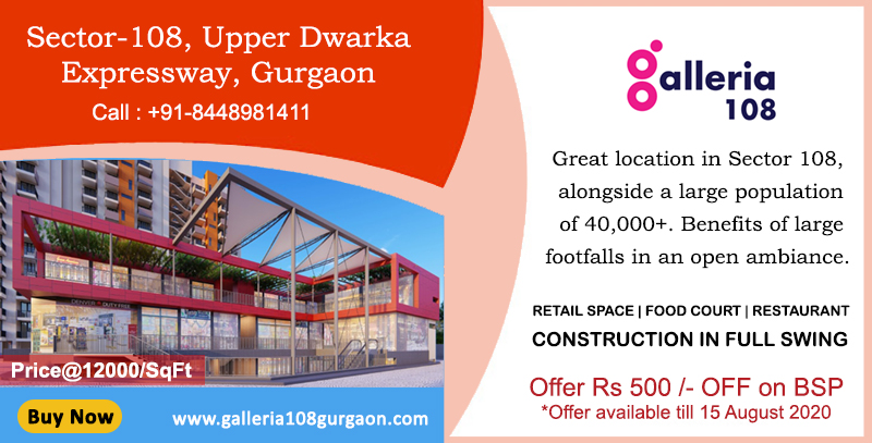 REACH US FOR COMMERCIAL PROJECTS ON DWARKA EXPRESSWAY GURGAON The population of 40,000+ living around would be drawn to this magnetic ambiance with spacious aisles, easy to access shopping, and entertainment.  https://galleria108gurgaon.com/ pic.twitter.com/4sVgpKq8NF