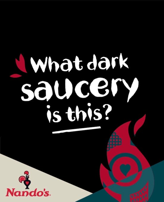 What dark saucery is this? Nandos