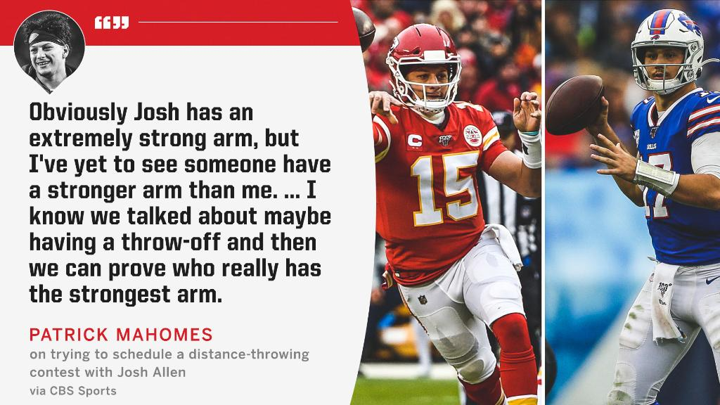 Patrick Mahomes and Josh Allen might be ready to settle the debate over the NFL's strongest arm 🚀 https://t.co/1vKQ7hU4J6