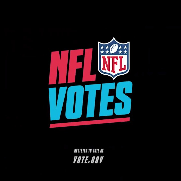 On the field or at the polls, 60% isn't good enough. Register to vote today:  #NFLVotes