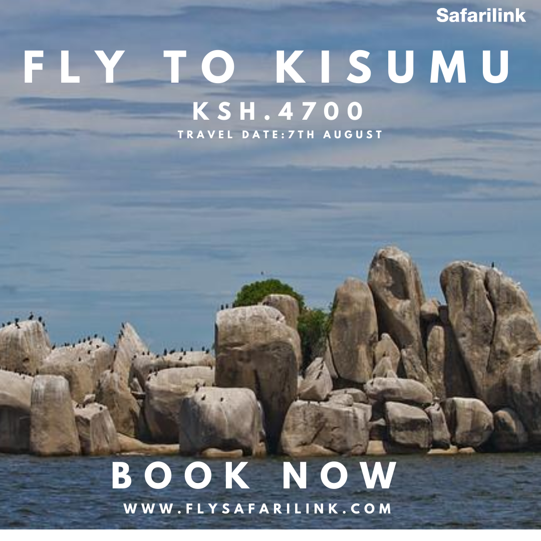You can Fly ✈️ to Kisumu Tomorrow with cheap flights from Kshs. 4,700 one-way. Book Now https://t.co/rk10o2NM1Y #flysafarilink #safarilink #kisumu #tembeakenya https://t.co/VBeqX1p3o3