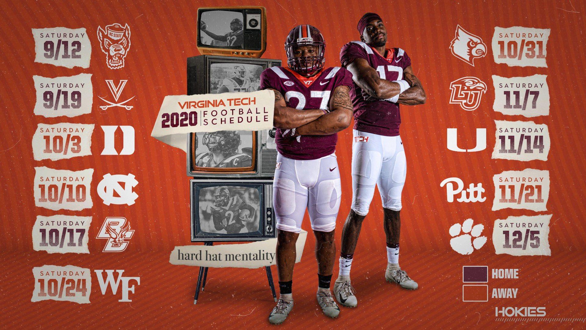 2020 Virginia Tech Football Schedule The Key Play