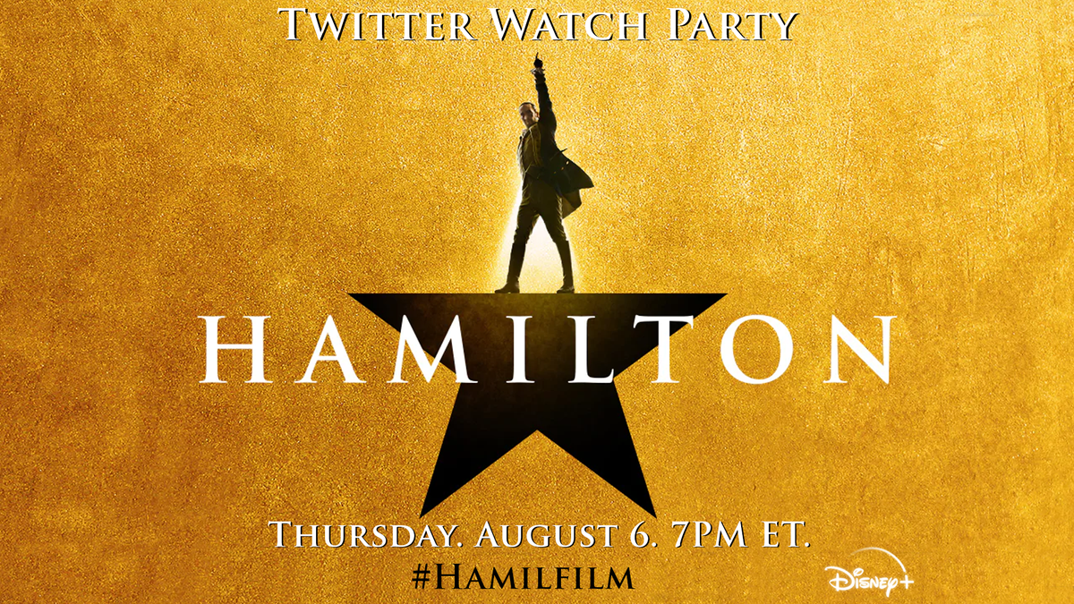 It wouldn't be #HamWeek without a #Hamilfilm viewing party! Hit play on @disneyplus TONIGHT at 7PM ET and relive the excitement of July 3rd with us on Twitter!
