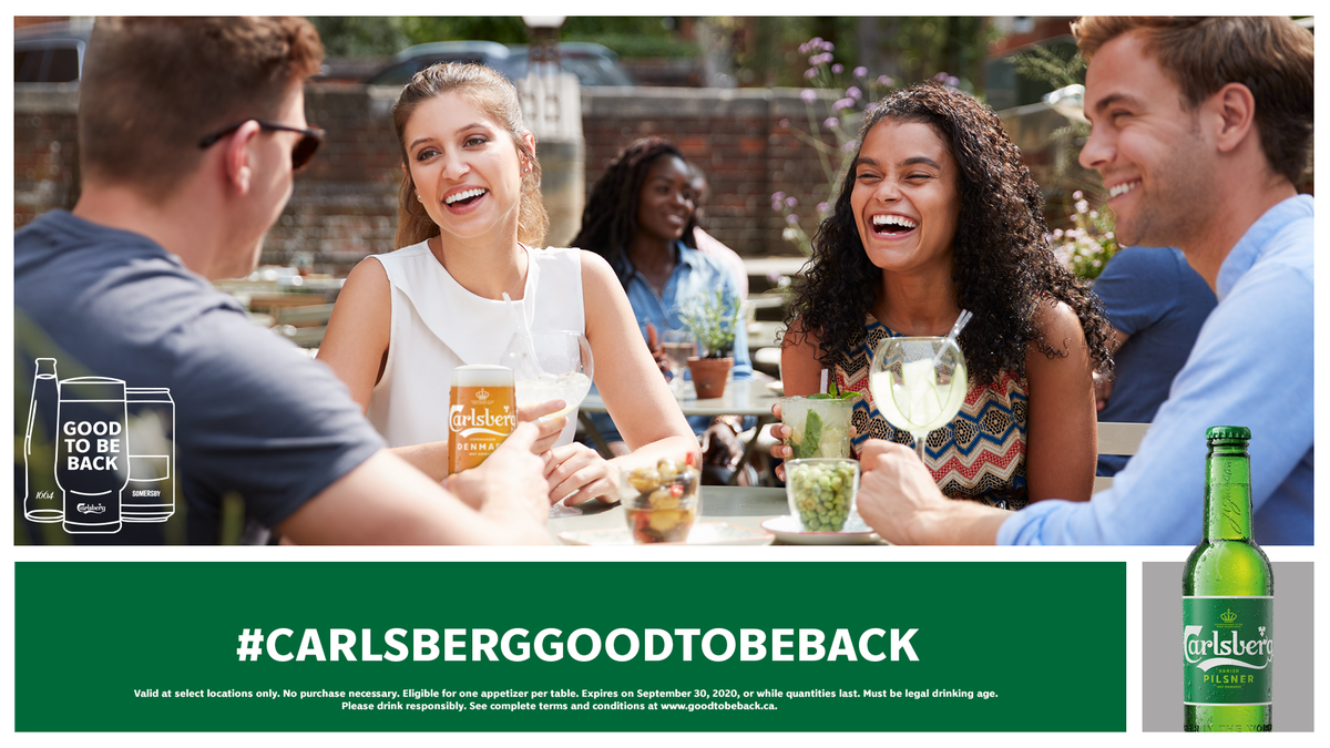 Would you like to reunite with one of yourfriends?  Just head to https://t.co/mMaYKex1Sz and fill out a personal E-Card inviting a buddy to meet at a localbar or restaurant and get a free appetizer on us!🙌🍻  #CarlsbergGoodToBeBack https://t.co/vfxrDlL3PC