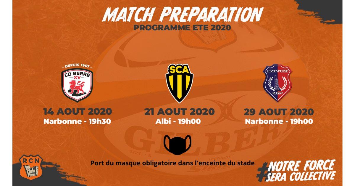 Matchs amicaux  🗓 À domicile :   🆚 CO Berre - vendredi 14 août à 19h 30  🆚 La...