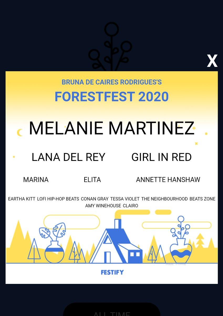 Iriam no meu festival de musica baseado no meu spotify?pic.twitter.com/qK5L0M6R0N