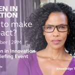 Image for the Tweet beginning: Women in Innovation Awards Briefing