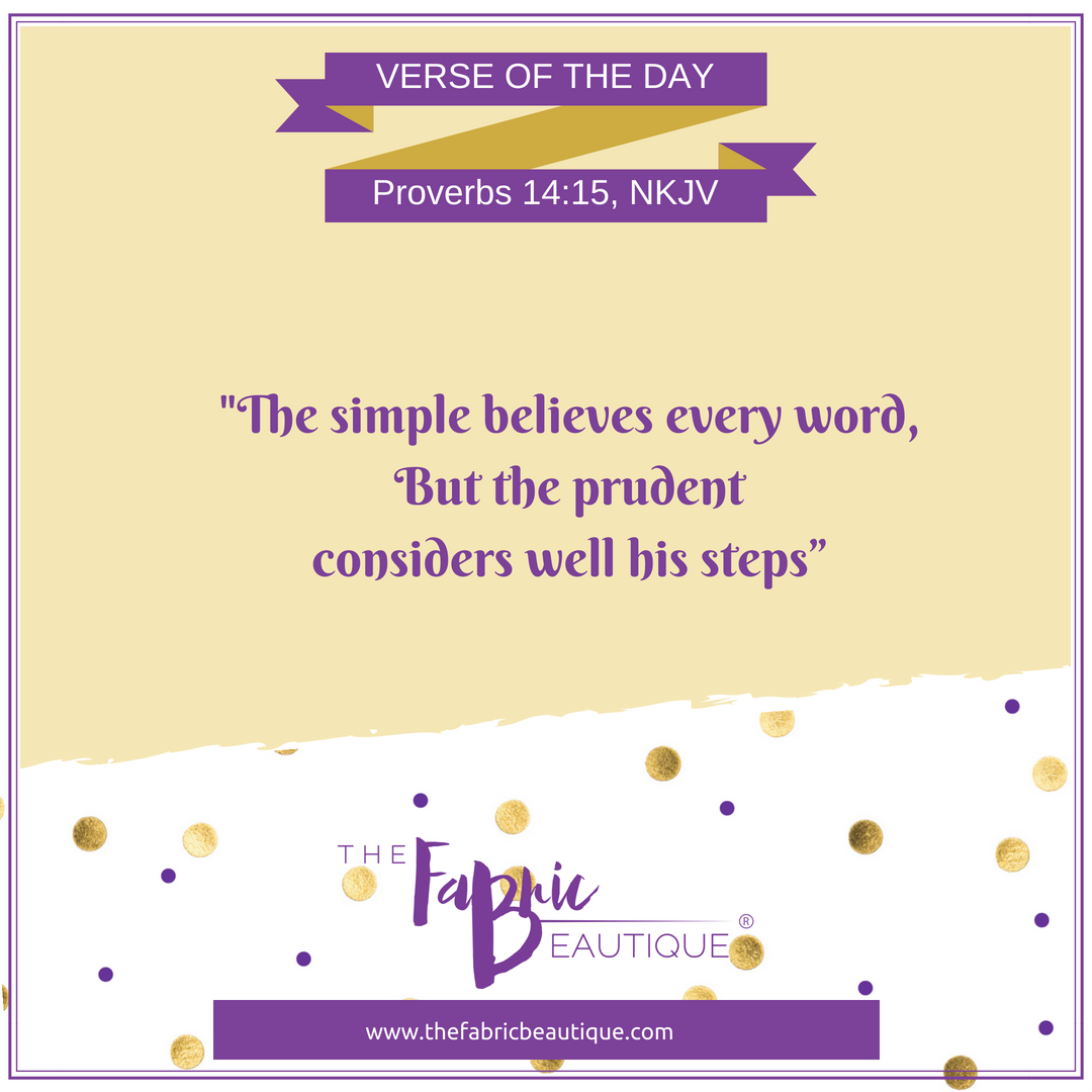 Don't fall for the words of the simple, be more prudent in the decisions you make. . #bibleverse #verseoftheday #godsword #ministryinthehome #studygodsword #bible #thefabricbeautique #wisdom #guidance #godswill #godsplan #godsprovidence #ministry #womeninministry #blessedpic.twitter.com/oSdTV11x0s
