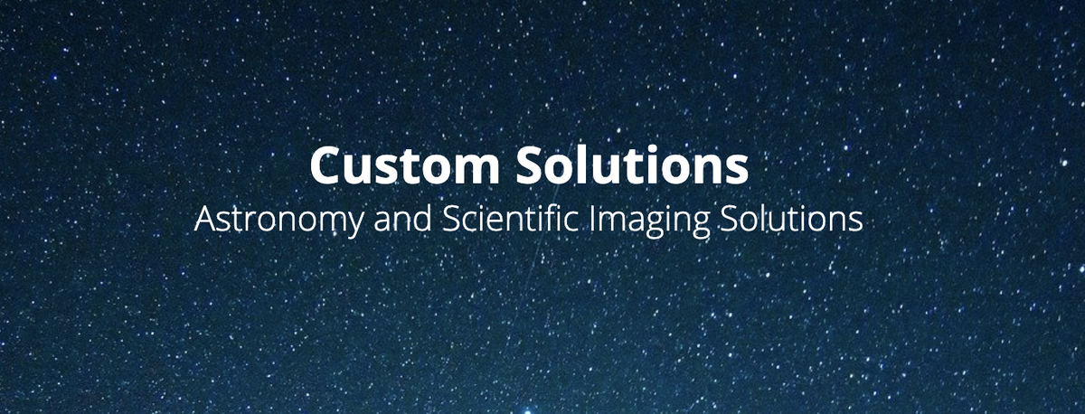 Whether it be one of our preconfigured solutions or a completely new custom solution, our team of experts are here to partner with you to help you achieve your vision. Learn more about our Custom Solutions for #Astronomy & #ScientificImaging Solutions here https://bit.ly/2E6CTlbpic.twitter.com/D23TlTrpuD