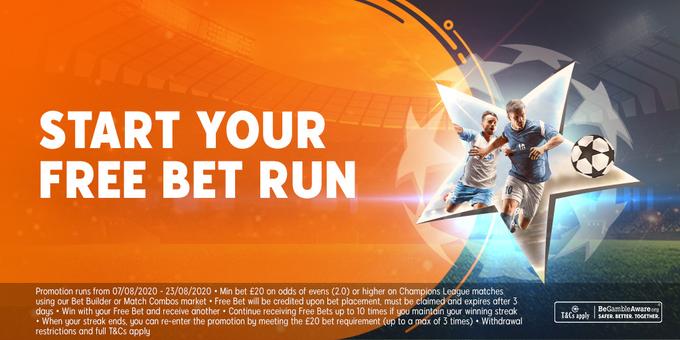 888sport the free bet run