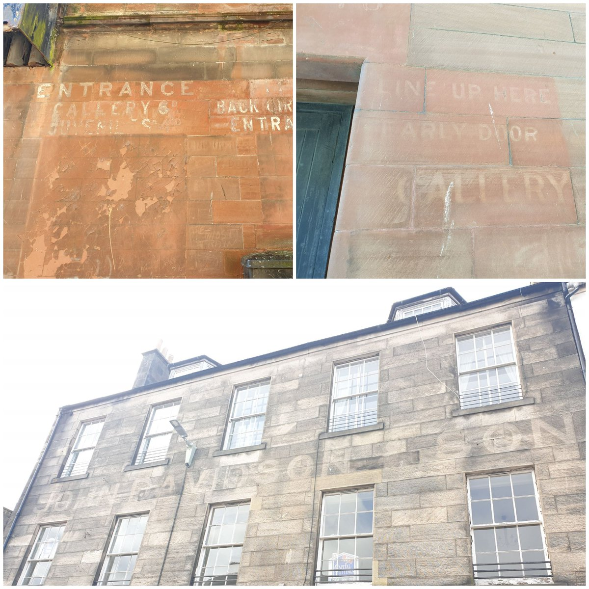 Spent a lovely morning #Kirkcaldy looking at sites for various projects, discovered some #ghostsigns along the way #towncentres #heritage #people #place #communitypic.twitter.com/AIyR82jNYS