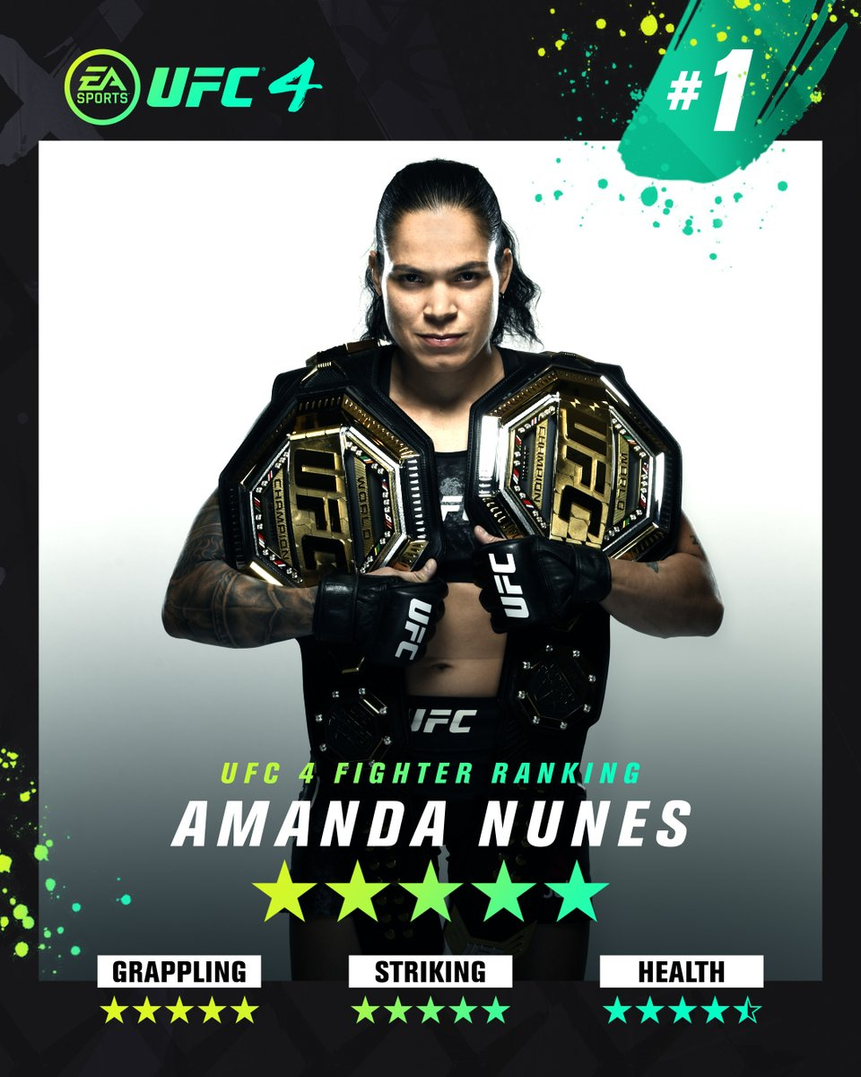 No arguments here - the 🐐 reigns at No. 1 on #UFC4.   Pre-order now: https://t.co/hNaHe2Wlsn https://t.co/RqQdlfbyps