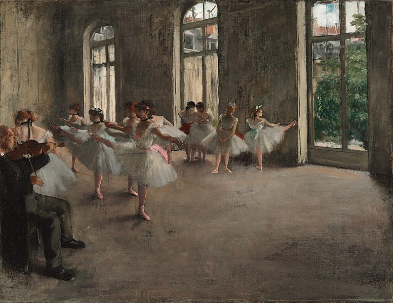 The Rehearsal, by Edgar Degas (French), 1878, @harvartmuseums #paintingoftheday pic.twitter.com/6ZuwbtV8s5