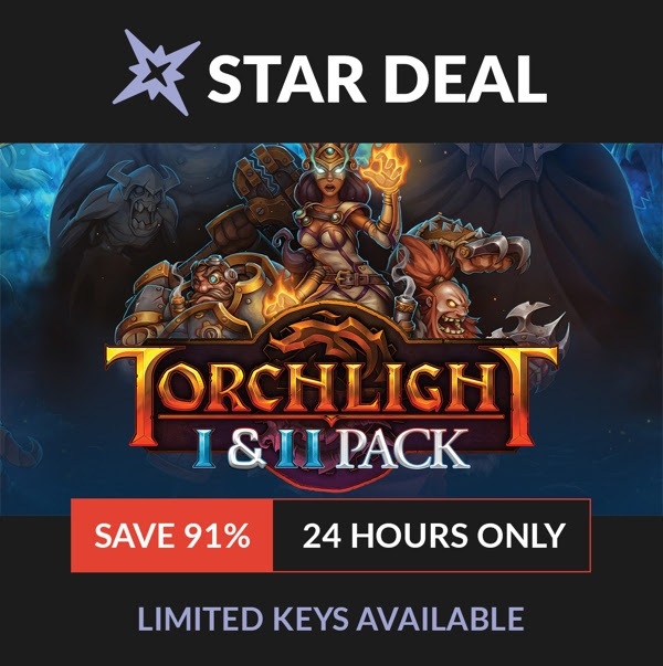 Torchlight 1 & 2 Pack (Steam) is $2.99 on Fanatical 10