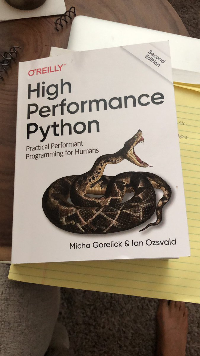 Reading this book currently and enjoying it. I only had surface level understanding of how to make python performant before but this book goes really in depth. Highly recommend.