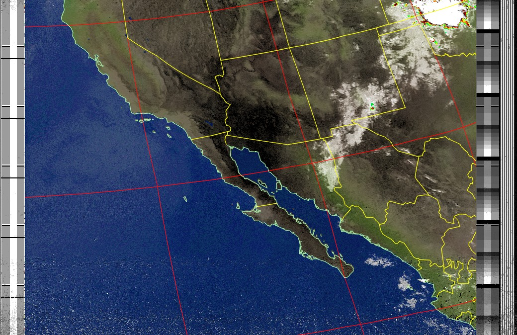 Satellite Image: NOAA 15 06-08-2020 10:02. Max Elevation: 23 Degrees. #NOAA #weather #TXlisteningpostimages #noaasatellite #RTLSDR #raspberrypipic.twitter.com/Xf7s8YhaXy