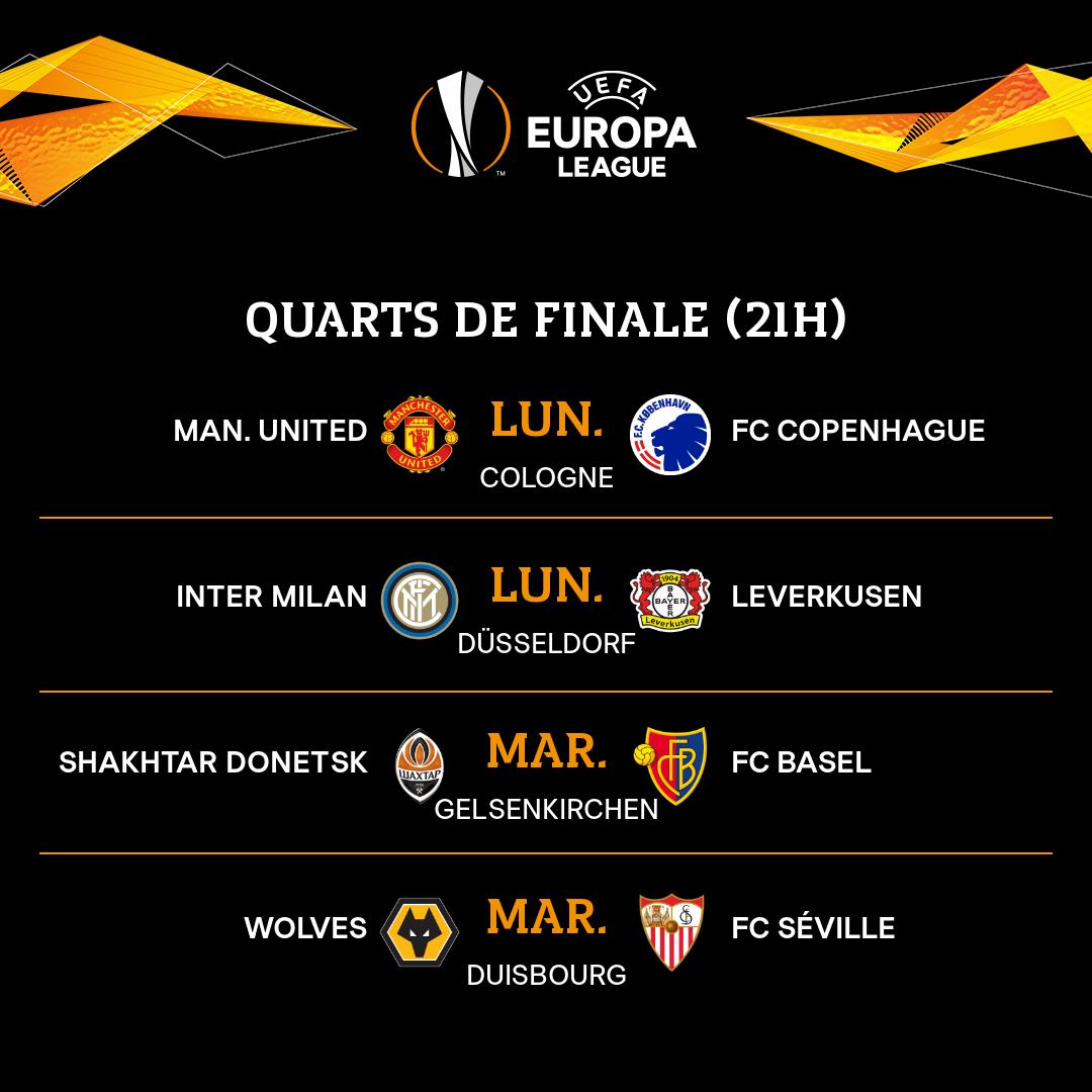 Quarts de finale de la Ligue Europa