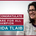 Image for the Tweet beginning: Congratulations to nurse-endorsed Rashida Tlaib