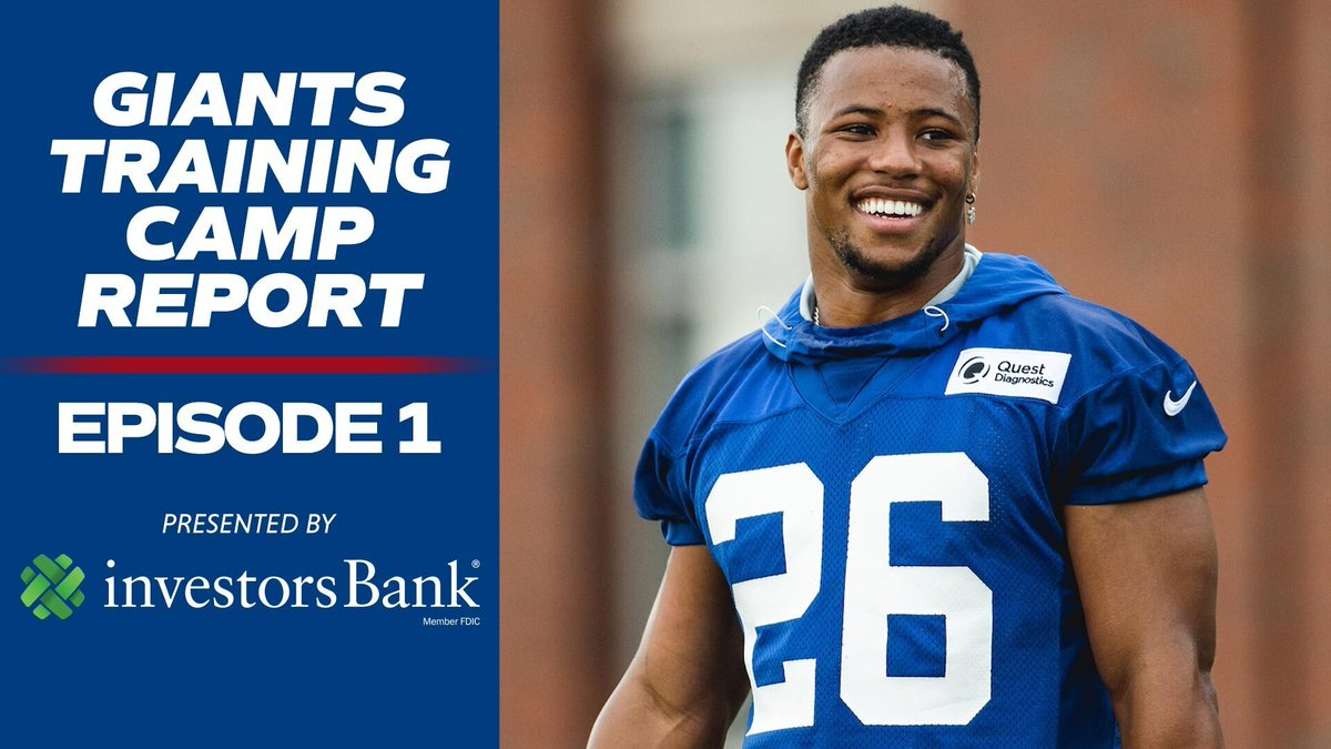 Image for the Tweet beginning: Giants Training Camp Report presented