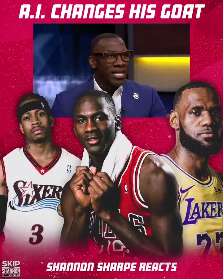 Iverson played in the Jordan era but has switched his GOAT pick to Bron 👀