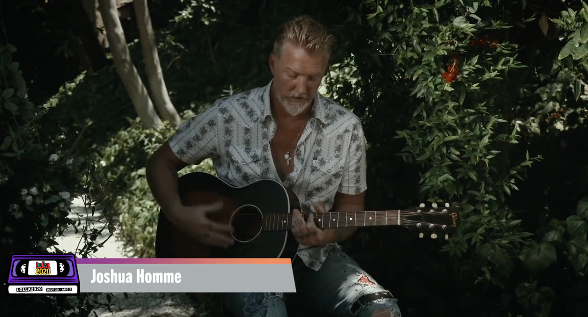 More from #Lolla2020 livestream! This time #QOTSA Josh Homme does acoustic #ThemCrookedVultures!   https://t.co/alHy1QHIrH https://t.co/BsvuDKeOLK
