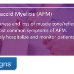 Image for the Tweet beginning: #AcuteFlaccidMyelitis (AFM) is a medical