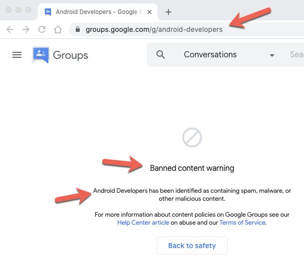 @googledevs Your current play console docs have a link to take you to your #AndroidDeveloper forums, which when you click on the link in your docs takes you to a banned google group.  So where can we ask questions and get quick answers? pic.twitter.com/0ey29YKNMM