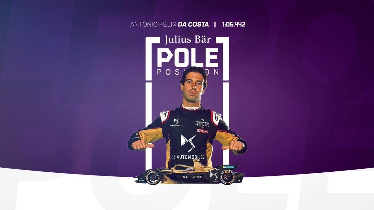 4e pôle position pour Antonio Félix Da Costa soit la 2e consécutive.  #BerlinEPrix  #FormulaE https://t.co/7TwrLLtLrh