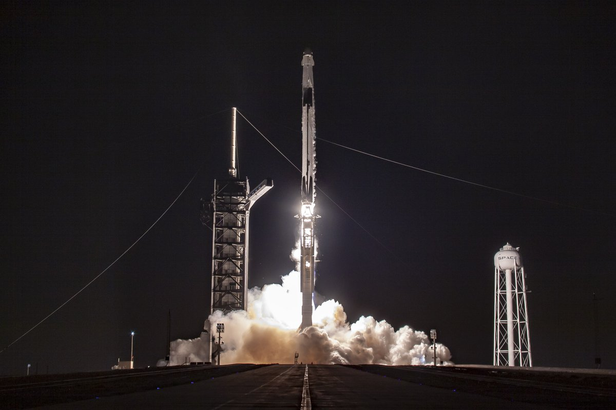 Falcon 9's first stage booster supporting this mission previously launched two Starlink missions, Crew Demo-1, and the RADARSAT Constellation Mission