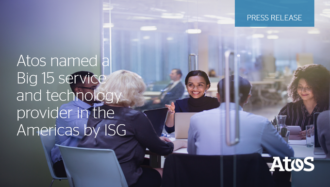 .@ISG_News has named Atos in the Americas a Big 15 service and technology provider....