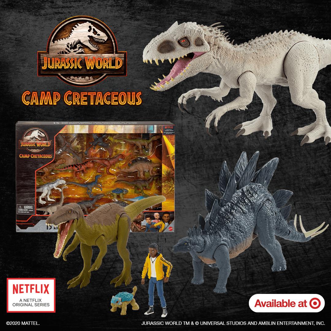 Mcdonalds 2020 Jurassic World Camp Cretaceous Toys Set of 7 Different Dinosaurs