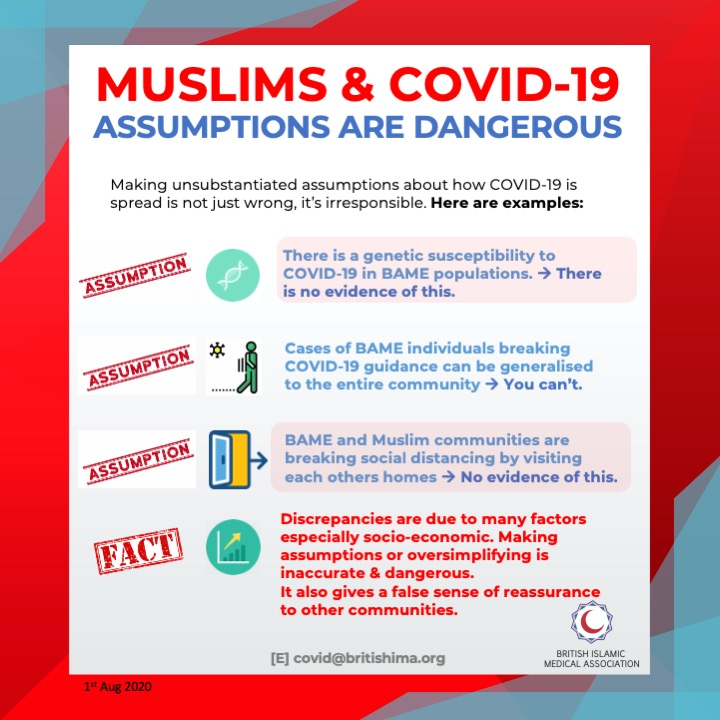 What are your assumptions about COVID-19? 🦠   In this series we share guidance on the genetic susceptibility and effects of COVID-19 on the BAME community. 🧕🏼👮🏿♀️👨🏽🏭👩🏾⚕️ (1/3) TA https://t.co/uVAv6h6zNN