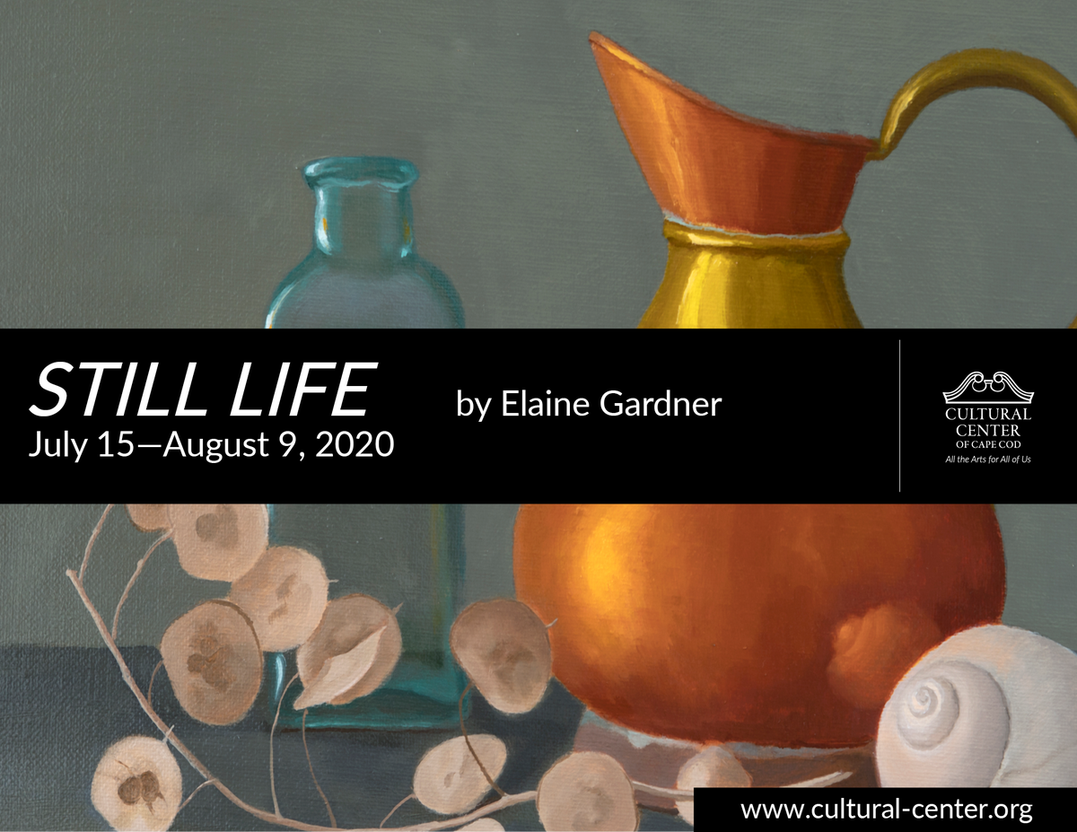 """""""Still Life,"""" oil paintings by Elaine Gardner in the Blue Room July 15-August 9  http://ow.ly/wpgK50AnGe5  #keepcapecodcreative #culturalcenterofcapecod #visualart #oil #stilllife #exhibitionopeningpic.twitter.com/quRRyO4tG8"""