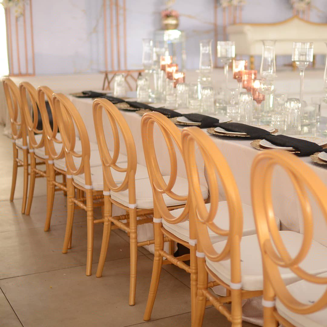 Talk about Class and style. Gold Dior Chair @jfkeventscompany   Chairs rentals @jfkeventscompany  Event Venue @jfkeventscompany   Book our hall today 09046743163 For your rental services 09021774352 #ThingsLayconCaused  #bbnaijalockdown2020  #events pic.twitter.com/NVBSxpcZHS
