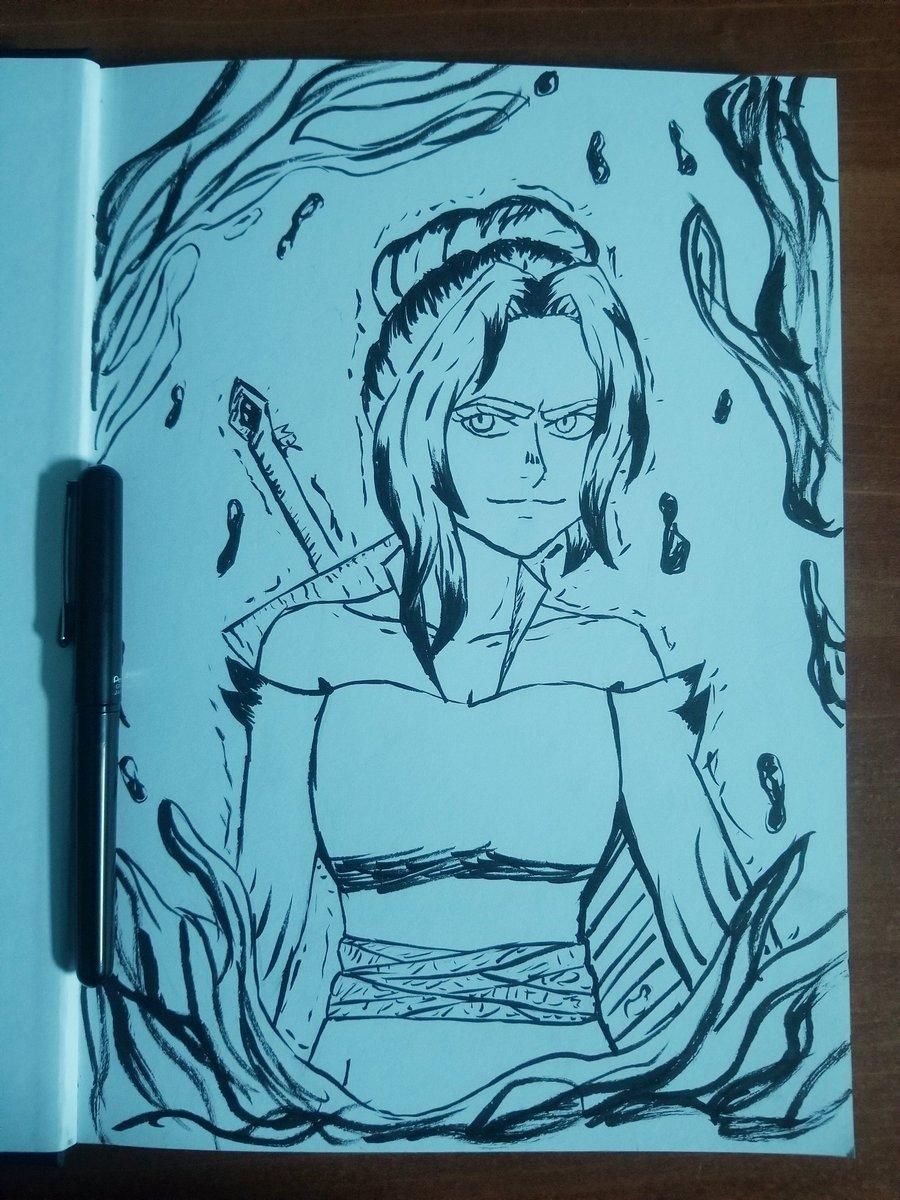 J'ai essayé pour la première fois un stylo pinceau, et j'me suis bien amusé avec, même si le dessin a pas trop de sens pic.twitter.com/6OTTfEOoWK