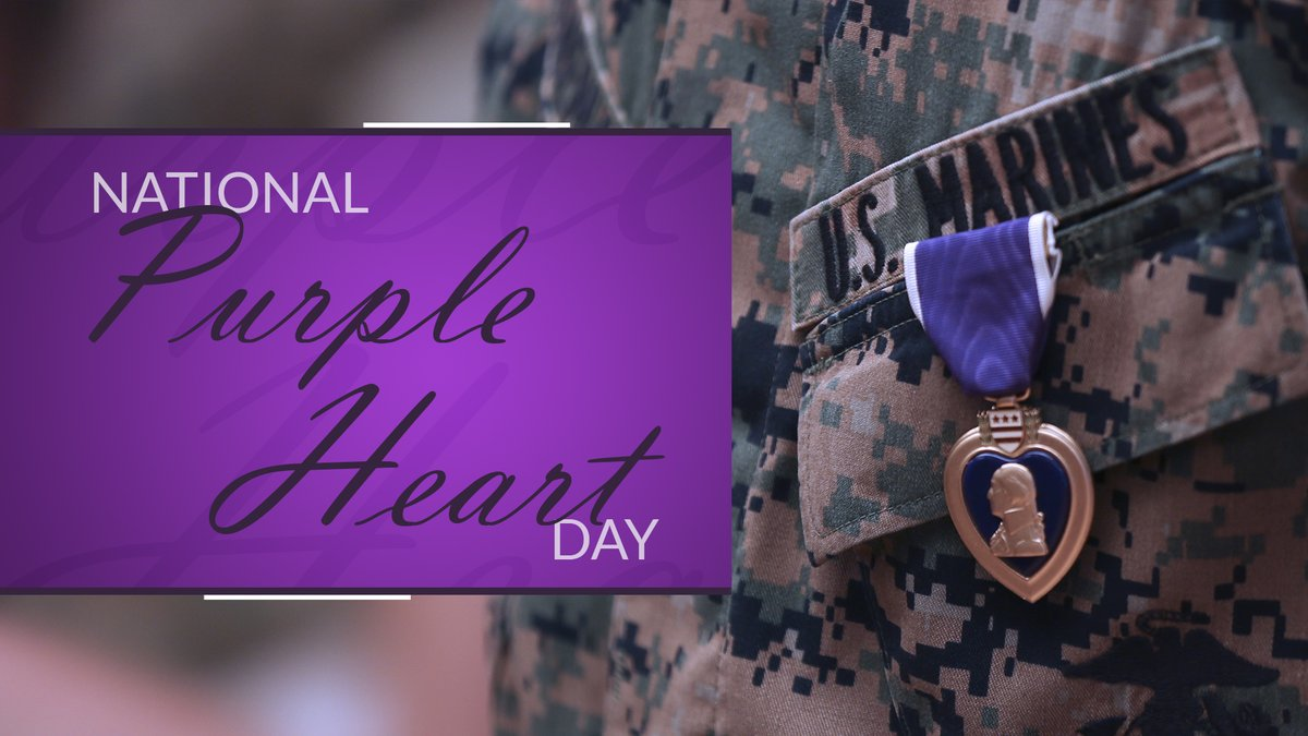 On this #PurpleHeartDay, we honor the brave service members who have received the nations oldest military award. We thank you for your sacrifices. #HonorThem