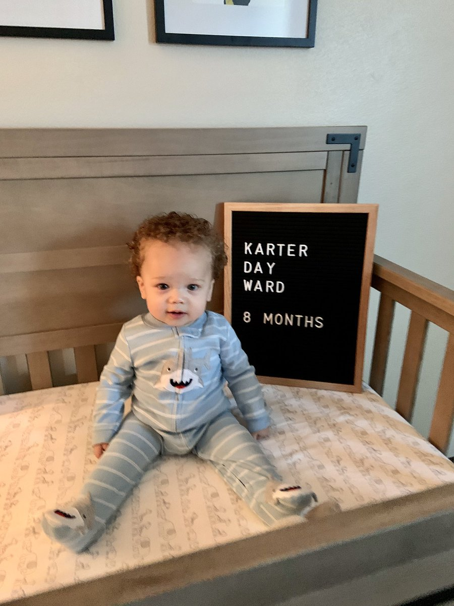How is my guy 8 mos already?!  don't let the pic fool you, dudes a monster! #kd @sharonpaijepic.twitter.com/mGWTvx80Y5