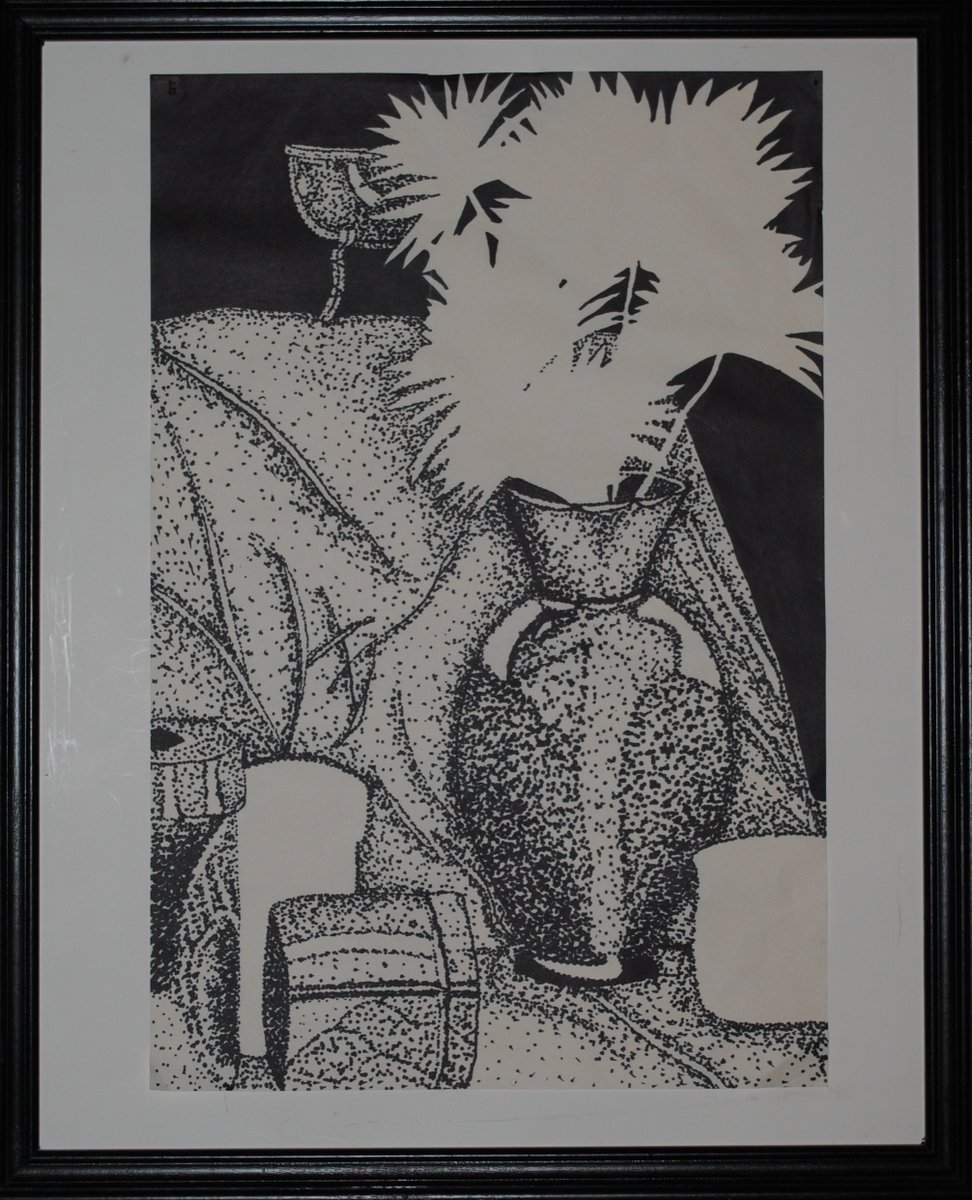 Throwback Daily Drawing: Stippling Still-life! This drawing is done with a different, yet typical art class study method of shading. Check out more on our site: https://hdscraftbox.square.site #stilllife #art #draw #artist #artstudy #stippling #hdscraftbox #throwbackthursday #bhfyp.pic.twitter.com/5cgVDLG0TD