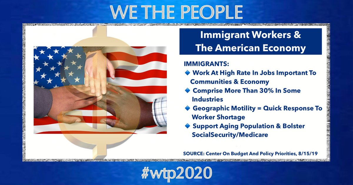Every legitimate economic model considers that immigrants are necessary to economic growth. Trump's ignorance & racism hurts us all. #VoteBiden to kickstart the economy & lift us all up. #wtpBlue @wtp__2020 #wtp427