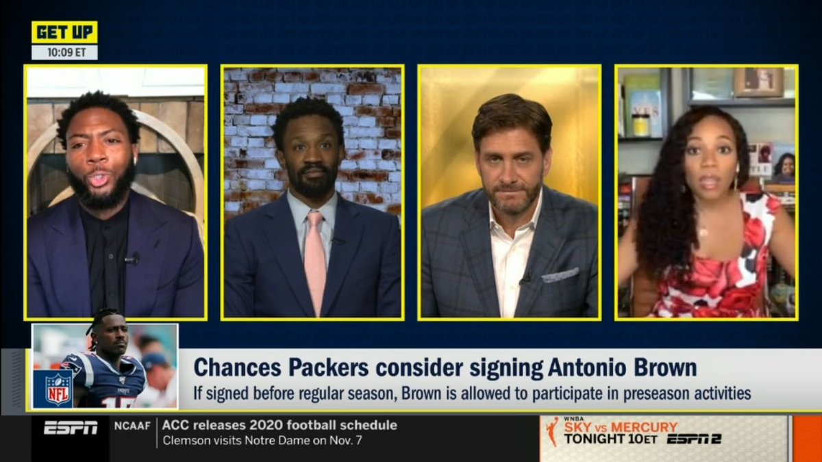 Love seeing @ByKimberleyA up early with this crew on @GetUpESPN @Espngreeny next up...@SportsCenter. Lots of @NFL news today. https://t.co/g2HWxxnpAH
