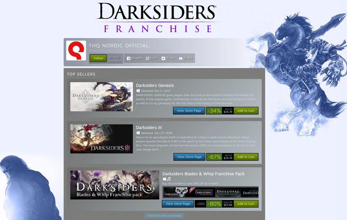 (PCDD) Darksiders Franchise Sale via Steam. 2