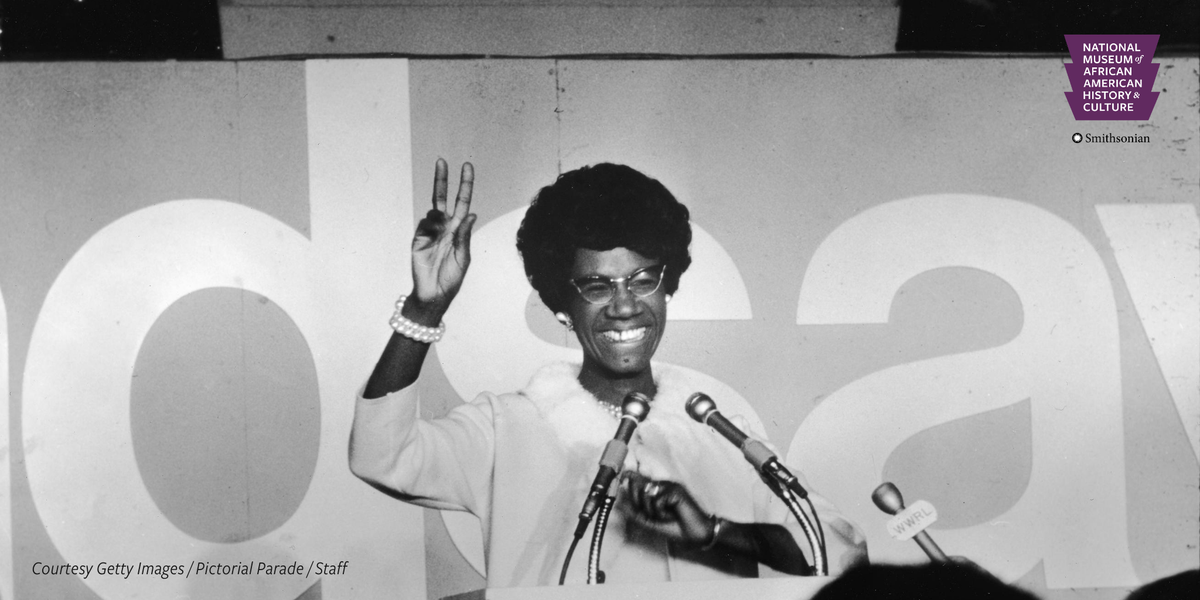 "Shirley Chisholm was the first African American woman elected to Congress and the first to campaign for the presidency. Beset by racist and sexist opposition, she advocated for poor inner-city residents, saying, ""I am and always will be a catalyst for change."" #APeoplesJourney https://t.co/kuxgTeKJ7E"