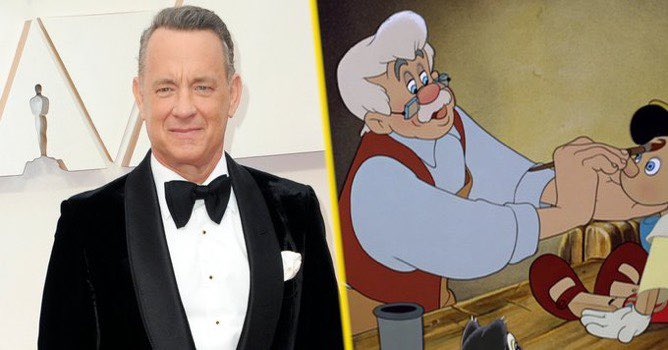 """A new Disney live action remake of """"Pinocchio""""is now planned, and in true Disney fashion, the role of Geppetto is now expected to go to ... TOM HANKS! 😂😂😂 google.com/amp/s/variety.…"""