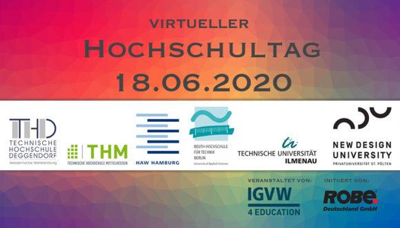 Rückblick: Virtueller Hochschulinformationstag 2020 für Medien- und Veranstaltungstechnik sowie Eventmanagement http://dlvr.it/Rd7Tk5pic.twitter.com/8Y4UZ0z1X8