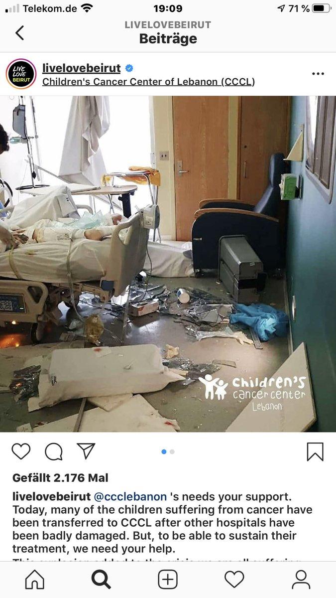 """Es ist, als würde Hiob sagen: """"Doch, es geht noch schlimmer"""". Die Kinderkrebstationen wissen nicht, wie es weitergehen soll. Wer spenden möchte: https://t.co/vkxk1lpuzZ - Children's Cancer Center Lebanon #Beirut https://t.co/UFlbFVK3XD"""