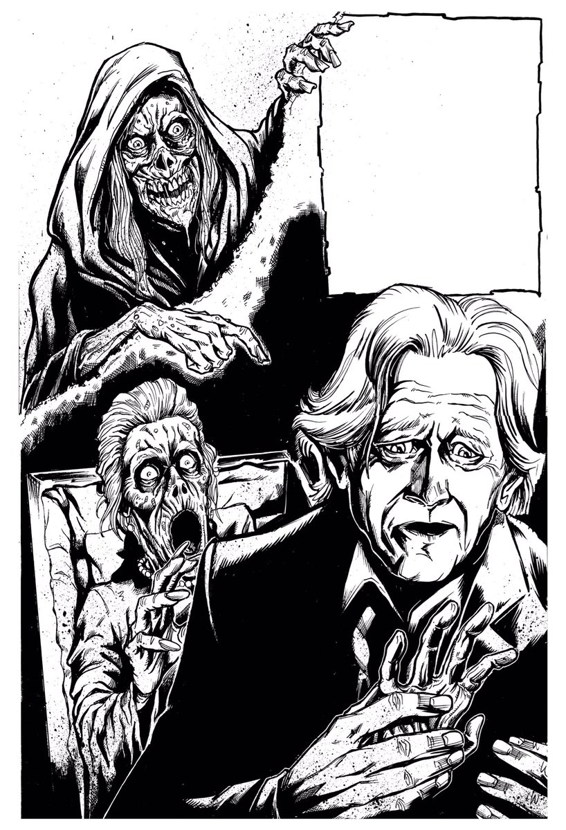 """Creepshow """"Night of the Paw"""" lineart... #creepzine #creepshow #lineart #inks #illustration #art #horror #keepdrawing #lovedrawing #puiscalzadaartpic.twitter.com/89QgrrG4g9"""