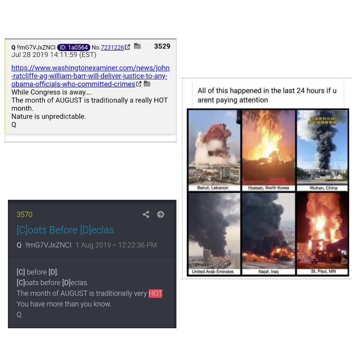 Q said August would be HOT. Are you paying attention?