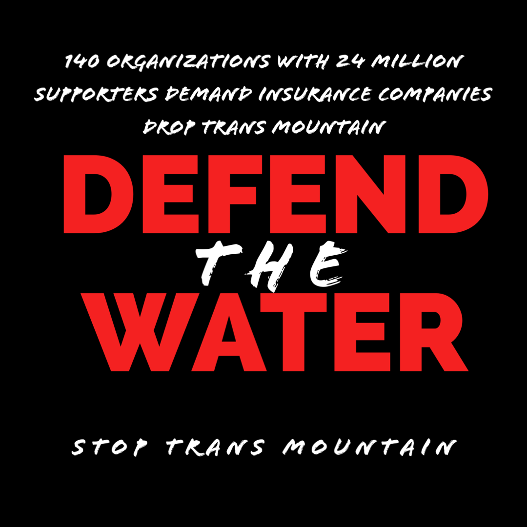 TODAY: we joined 140+ groups to send a message to Trans Mountain's insurers: stop being complicit in the violation of Indigenous rights and pollution of waterways. #StopTMX #InsureOurFuture. https://t.co/kr17S0HsKb https://t.co/gSKFVzqmhW