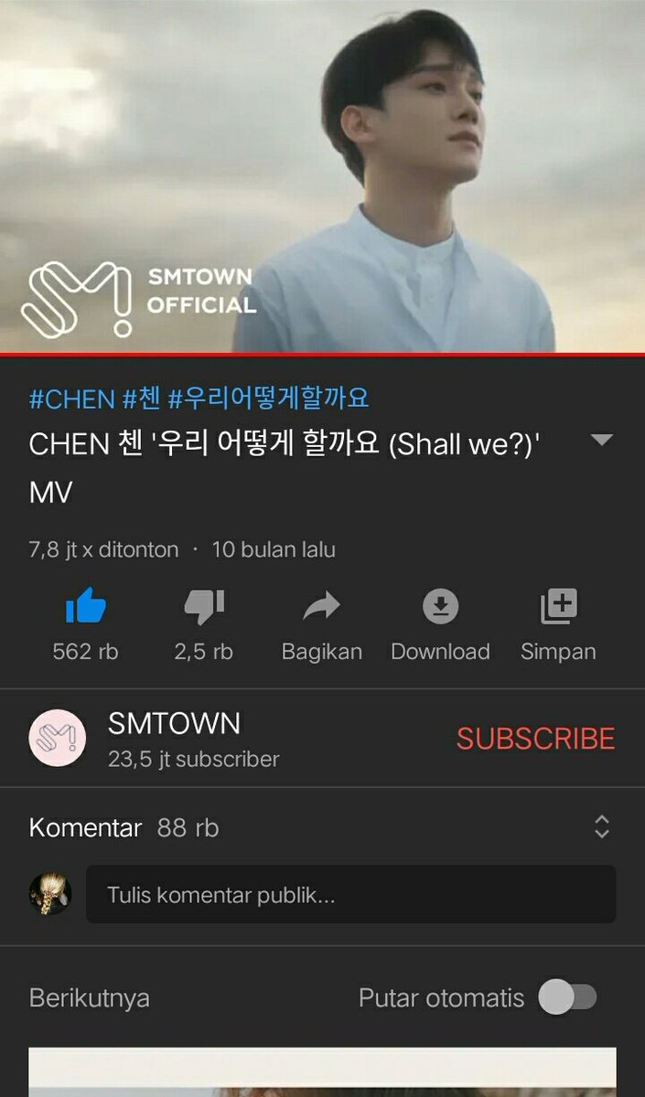 MV Lay and Chen too, make their mv reach 10 millions views.  We need :  1M for Suho 2.9M for Xiumin 2.2M for Chen  500k for Lay  Lets go to Youtube pic.twitter.com/ShLUaBtpvt